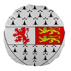 County Carlow Coat Of Arms Large 18  Premium Flano Round Cushions by abbeyz71