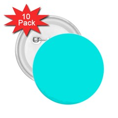 Neon Color   Luminous Vivid Cyan 2 25  Buttons (10 Pack)  by tarastyle