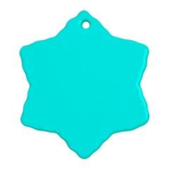 Neon Color   Luminous Vivid Cyan Ornament (snowflake) by tarastyle