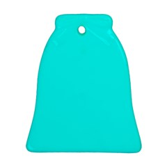 Neon Color   Luminous Vivid Cyan Ornament (bell) by tarastyle