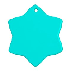 Neon Color   Luminous Vivid Cyan Snowflake Ornament (two Sides) by tarastyle