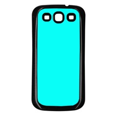 Neon Color   Luminous Vivid Cyan Samsung Galaxy S3 Back Case (black) by tarastyle