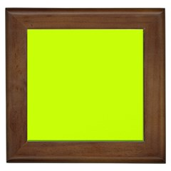 Neon Color   Luminous Vivid Lime Green Framed Tiles by tarastyle