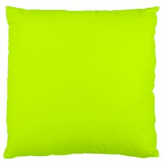 Neon Color   Luminous Vivid Lime Green Large Cushion Case (one Side) by tarastyle