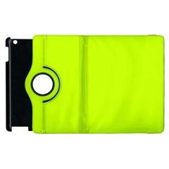 Neon Color   Luminous Vivid Lime Green Apple Ipad 3/4 Flip 360 Case by tarastyle