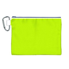 Neon Color   Luminous Vivid Lime Green Canvas Cosmetic Bag (l) by tarastyle