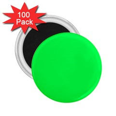 Neon Color   Luminous Vivid Malachite Green 2 25  Magnets (100 Pack)  by tarastyle
