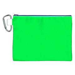 Neon Color   Luminous Vivid Malachite Green Canvas Cosmetic Bag (xxl) by tarastyle