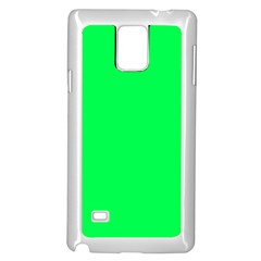 Neon Color   Luminous Vivid Malachite Green Samsung Galaxy Note 4 Case (white) by tarastyle
