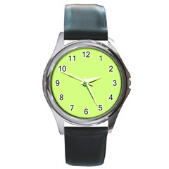 Neon Color   Very Light Spring Bud Round Metal Watch by tarastyle