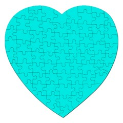 Neon Color   Vivid Cyan Jigsaw Puzzle (heart) by tarastyle