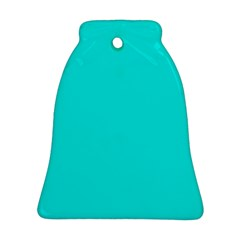 Neon Color   Vivid Cyan Ornament (bell) by tarastyle