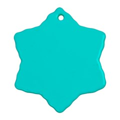 Neon Color   Vivid Cyan Snowflake Ornament (two Sides) by tarastyle