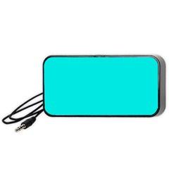 Neon Color   Vivid Cyan Portable Speaker (black) by tarastyle