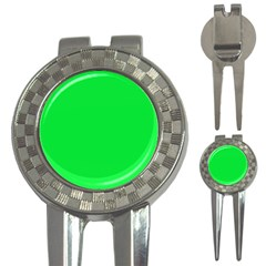 Neon Color   Vivid Malachite Green 3 In 1 Golf Divots by tarastyle