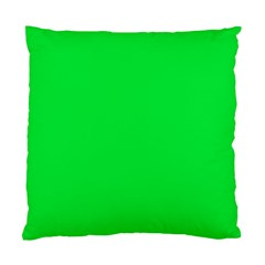 Neon Color   Vivid Malachite Green Standard Cushion Case (one Side) by tarastyle
