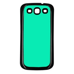 Neon Color   Vivid Turquoise Samsung Galaxy S3 Back Case (black) by tarastyle