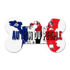Marine Le Pen Dog Tag Bone (one Side) by Valentinaart
