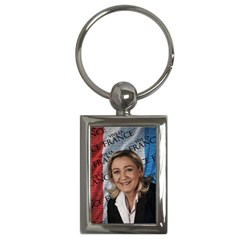 Marine Le Pen Key Chains (rectangle)  by Valentinaart