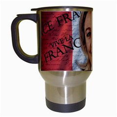 Marine Le Pen Travel Mugs (white) by Valentinaart