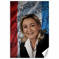 Marine Le Pen Canvas 12  X 18   by Valentinaart