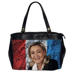Marine Le Pen Office Handbags (2 Sides)  by Valentinaart