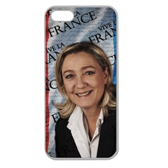 Marine Le Pen Apple Seamless Iphone 5 Case (clear) by Valentinaart