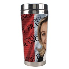 Marine Le Pen Stainless Steel Travel Tumblers by Valentinaart