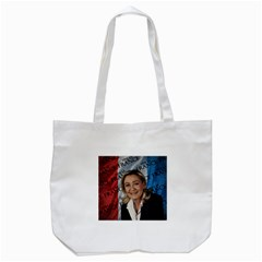 Marine Le Pen Tote Bag (white) by Valentinaart