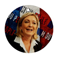 Marine Le Pen Round Ornament (two Sides) by Valentinaart
