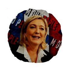 Marine Le Pen Standard 15  Premium Round Cushions by Valentinaart