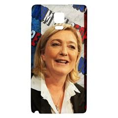 Marine Le Pen Galaxy Note 4 Back Case by Valentinaart