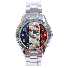 Marine Le Pen Stainless Steel Analogue Watch by Valentinaart