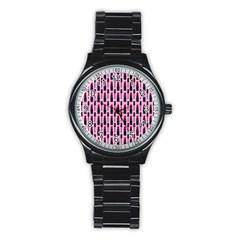 Makeup Stainless Steel Round Watch by Valentinaart