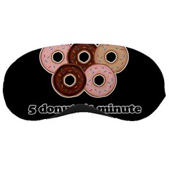 Five Donuts In One Minute  Sleeping Masks by Valentinaart