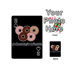 Five Donuts In One Minute  Playing Cards 54 (mini)  by Valentinaart