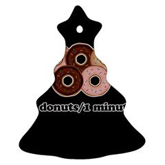 Five Donuts In One Minute  Christmas Tree Ornament (two Sides) by Valentinaart