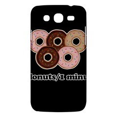 Five Donuts In One Minute  Samsung Galaxy Mega 5 8 I9152 Hardshell Case  by Valentinaart