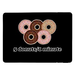 Five Donuts In One Minute  Samsung Galaxy Tab Pro 12 2  Flip Case by Valentinaart