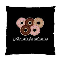 Five Donuts In One Minute  Standard Cushion Case (one Side) by Valentinaart