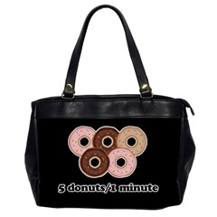 Five Donuts In One Minute  Office Handbags (2 Sides)  by Valentinaart