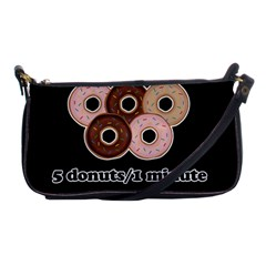 Five Donuts In One Minute  Shoulder Clutch Bags by Valentinaart