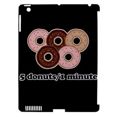 Five Donuts In One Minute  Apple Ipad 3/4 Hardshell Case (compatible With Smart Cover) by Valentinaart