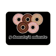 Five Donuts In One Minute  Double Sided Flano Blanket (mini)  by Valentinaart