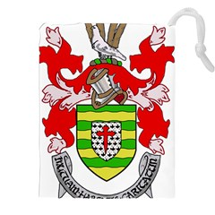 County Donegal Coat Of Arms Drawstring Pouches (xxl) by abbeyz71