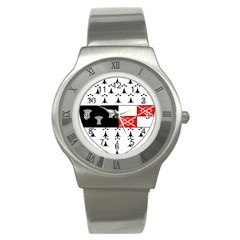 County Kilkenny Coat Of Arms Stainless Steel Watch by abbeyz71