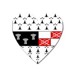 County Kilkenny Coat Of Arms Heart Magnet by abbeyz71
