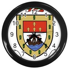 County Mayo Coat Of Arms Wall Clocks (black) by abbeyz71