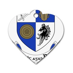 County Monaghan Coat Of Arms Dog Tag Heart (one Side) by abbeyz71