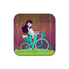 Bikeride Rubber Coaster (square)  by Mjdaluz